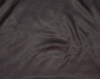 BLACK Silk and Cotton Blend Sateen Fabric - 1 Yard