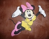 Ex Lg Minnie Mouse Jumping for Joy Die Cut 12 in
