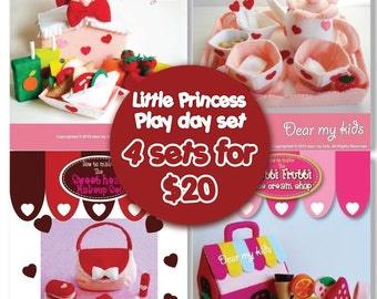 Little Princess's play day set (4 Pattern sets in one)