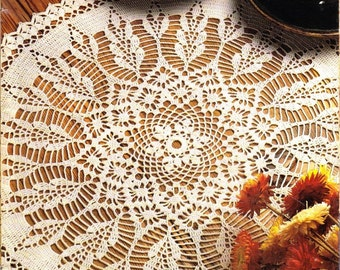 INSTANT DOWNLOAD Vintage  fine thread crochet doily pattern, wild fields