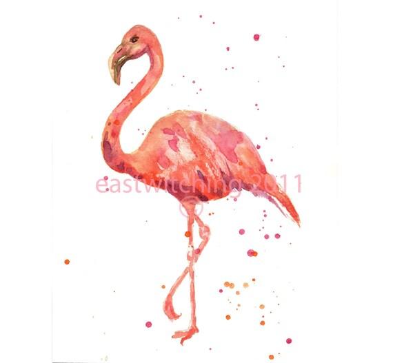 Flamingo Print, Gift for her, pink flamingo, flamingo art, uk, uk shop