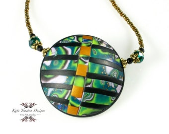 Jungle Beat Polymer Clay Necklace
