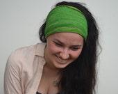 Headband / Dread Wrap / Head wrap in Emerald Green