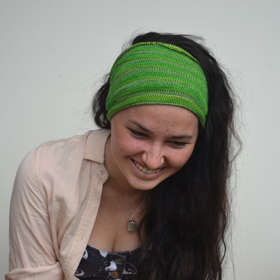 Headband / Dread Wrap / Head wrap in Emerald Green