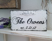 WEDDING SIGNS | Custom wedding signs | Personalized wood signs | Self standing |  x 5