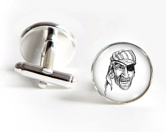 PIRATE Cufflinks silver 18mm cuff links Gifts for him