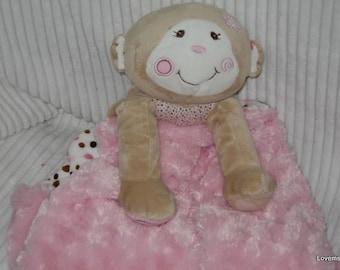 Security Blanket, Baby Blanket, Lovie, Luvi - Monkey - Lovems