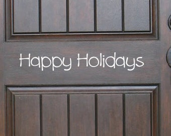 Happy Holidays Decal, Door Decal, Christmas Decal, Christmas Decor, Christmas Wall Decal, Holidays Decal, Christmas Stickers, Small decal
