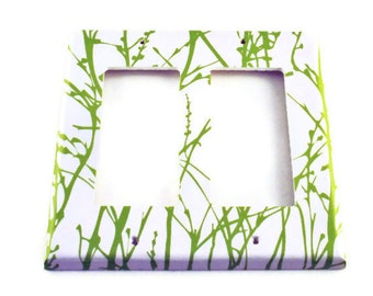 Light Switch Cover Switchplate  Rocker  in  Green Grass  (128DR)