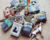 ADULT SIZE SherlockHolmes Books Fringe Charm Bracelet