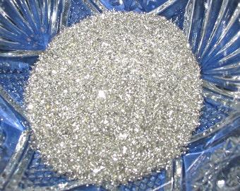 Fine Pure Silver German Glass Glitter 80 Grit 1 Ounce