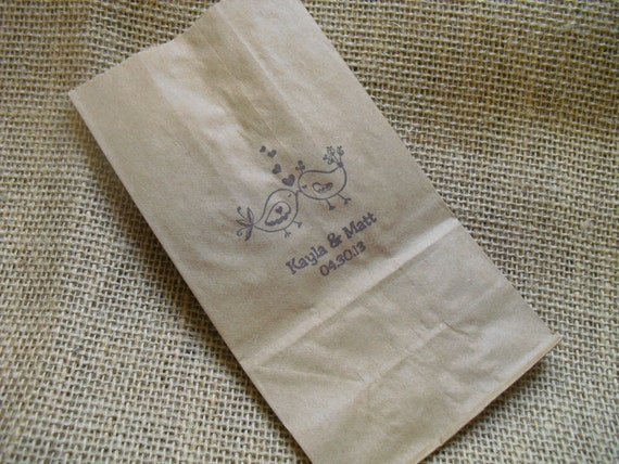 Wedding Personalized Favor Kraft Paper Bags Coffee bags Cookie Bags ...