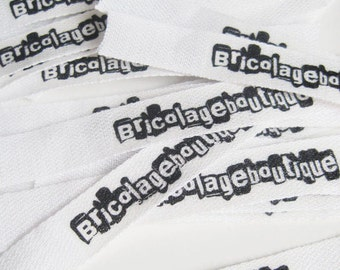 30 custom printed fabric labels - 3 size options