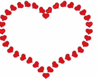 Heart of Hearts Valentine's Day Machine Embroidery Design