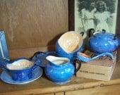 Vintage Lustreware Snack Sets, Creamer Sugar Mayo Bowl Mayo Spoon Bavarian Japanese