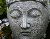 Buddha Garden Statues - LARGE 9 Inches Tall Buddah Head - Decor for Your Garden