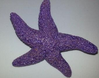 Starfish, ocean, Purple, Purple starfish, tropical wedding, bridal, starfish barrette, starfish hair clip, fish, ocean clip,beach, mermaid