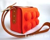 Block Bag in Orange