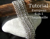Chainmaille Tutorial - European 6 in 1 chainmaille bracelet / necklace