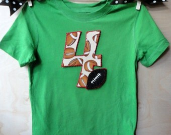 Toddler Size Football Number Shirt