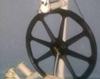 Babe Single Treadle White Production Spinning Wheel
