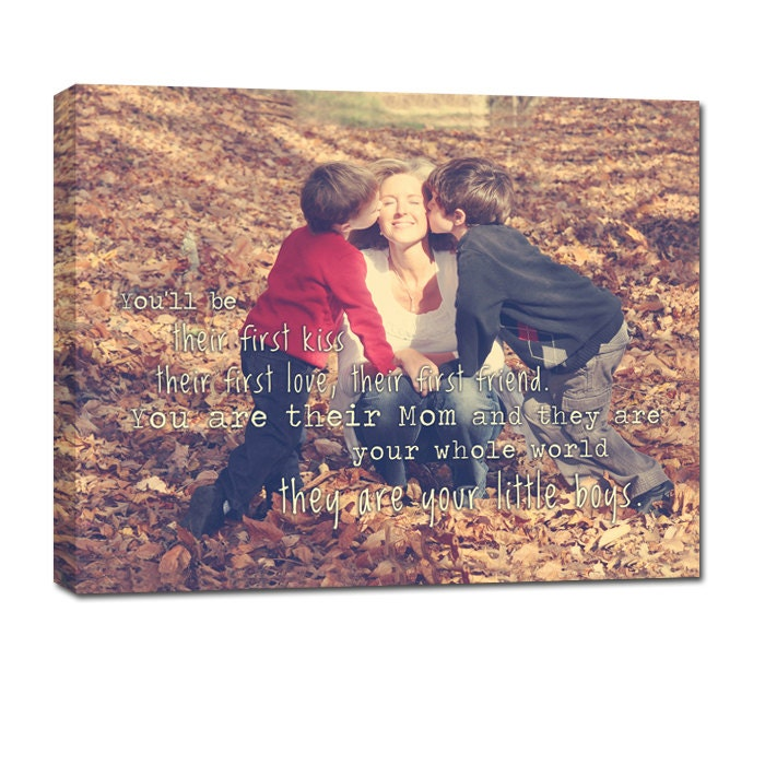Quote About Sons And Mothers: Geezees Canvas Art Mother Son Daughter Canvas Personalized