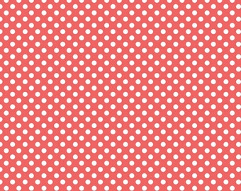 Riley Blake Designs, Small Dots in Rouge (C350 79)