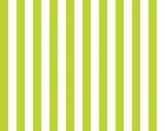 Riley Blake Designs, Half Inch Stripe in Lime (C530 32)