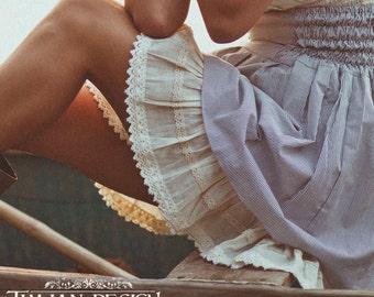 PETTICOAT SLIP SKIRT - Underskirt extender trim underslip underwear Shabby chic Vintage look Steampunk Gypsy - Off white cream ivory