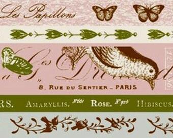 Flora and Fauna Washi Tape Set
