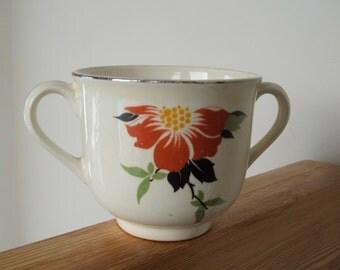 Orange Poppy Sugar Bowl