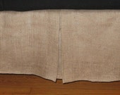 Custom Listing for Edye - Queen Size BURLAP Bed skirt with kick pleat on each side