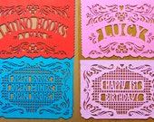All Occasion - Personalized Papel Picado - Sets of 2 banners - Custom Color - birthday party, retirement, graduation