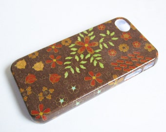 Autumn Flowers iPhone 3, 4/4S, 5/5S/SE, 5C, 6 or iPod Touch Case Back Cover Decoupaged Plastic Case