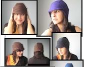 Helmet Hat PDF Sewing Pattern, PDF Tutorial, Sweatshirt Hat,  T Shirt Hat, Hat Tutorial and Pattern
