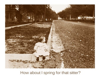 funny mothers day old photo card