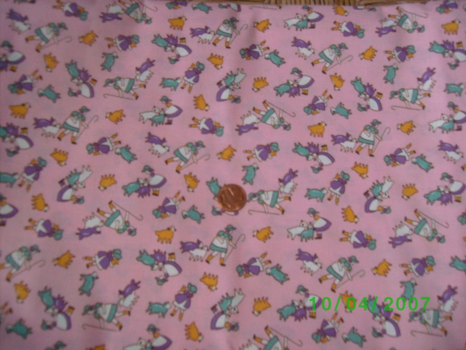 Childrens 1930s reproducrion novelty fabric little bo peep on for Kids novelty fabric