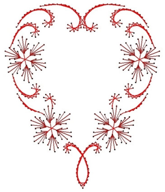 Flowering Heart Swirl Valentine Paper Embroidery Pattern For Greeting Cards From Darse On Etsy ...