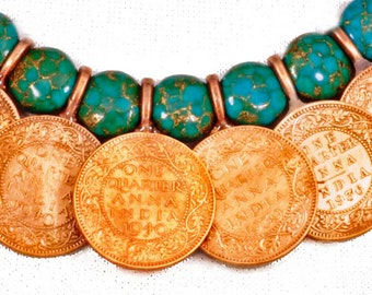 Anna Necklace with Turquoise