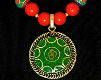 Nepalese Om Necklace - Good Vibrations 2