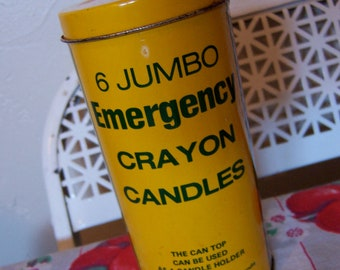crayon candle tin