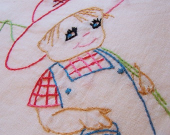 adorable little boy kitchen towel