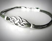 Outlander Bracelet Best Seller Sterling Celtic Knot bracelet Irish bracelet Scottish bracelet St Patricks