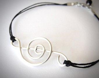Treble Clef bracelet, music jewelry, sterling treble, music lover bracelet, sterling musical note bracelet, ready to ship, Gift for her