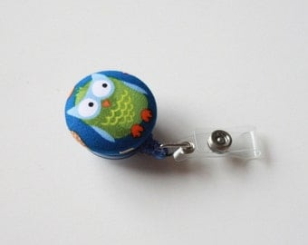 Badge Reel Id Holder chubby little owl