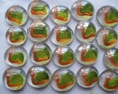 Hand painted glass gems party favors snails snail