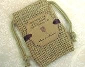Burlap wedding favor bags - Personalized - Love makes the world a more beautiful place