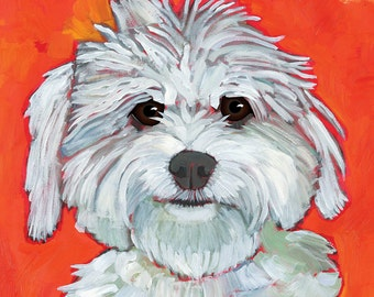 Coton de Tulear wall art, Oscar Wilde inspirational quote, maltipoo, cute white fluffy dog, coton dog magnet,