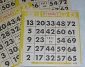 25 PAPER BINGO CARDS / collage supplies / altered art / bingo cards / vintage bingo cards / newsprint bingo / bulk bingo cards / tag supply