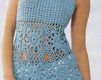 MADE TO ORDER  summer crochet tunic R49